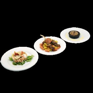 plateau repas Anémone (salade, brochettes de poulet, brookie) pour vos déjeuners, livraison en entreprise à Tours, 37