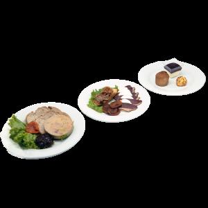 plateau repas Lilas (foie gras, magret de canard, desserts) pour vos repas, livraison en entreprise à Tours, 37
