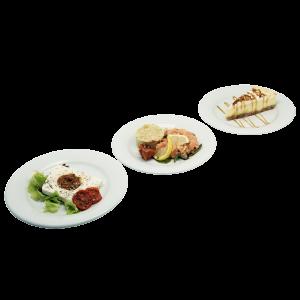 plateau repas Rose (poissons, crumble, tarte meringuée) pour vos déjeuners, livraison en entreprise à Tours, 37